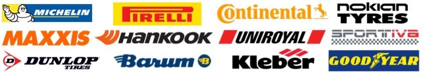 udvalg af mærker hos Billigtdækskifte